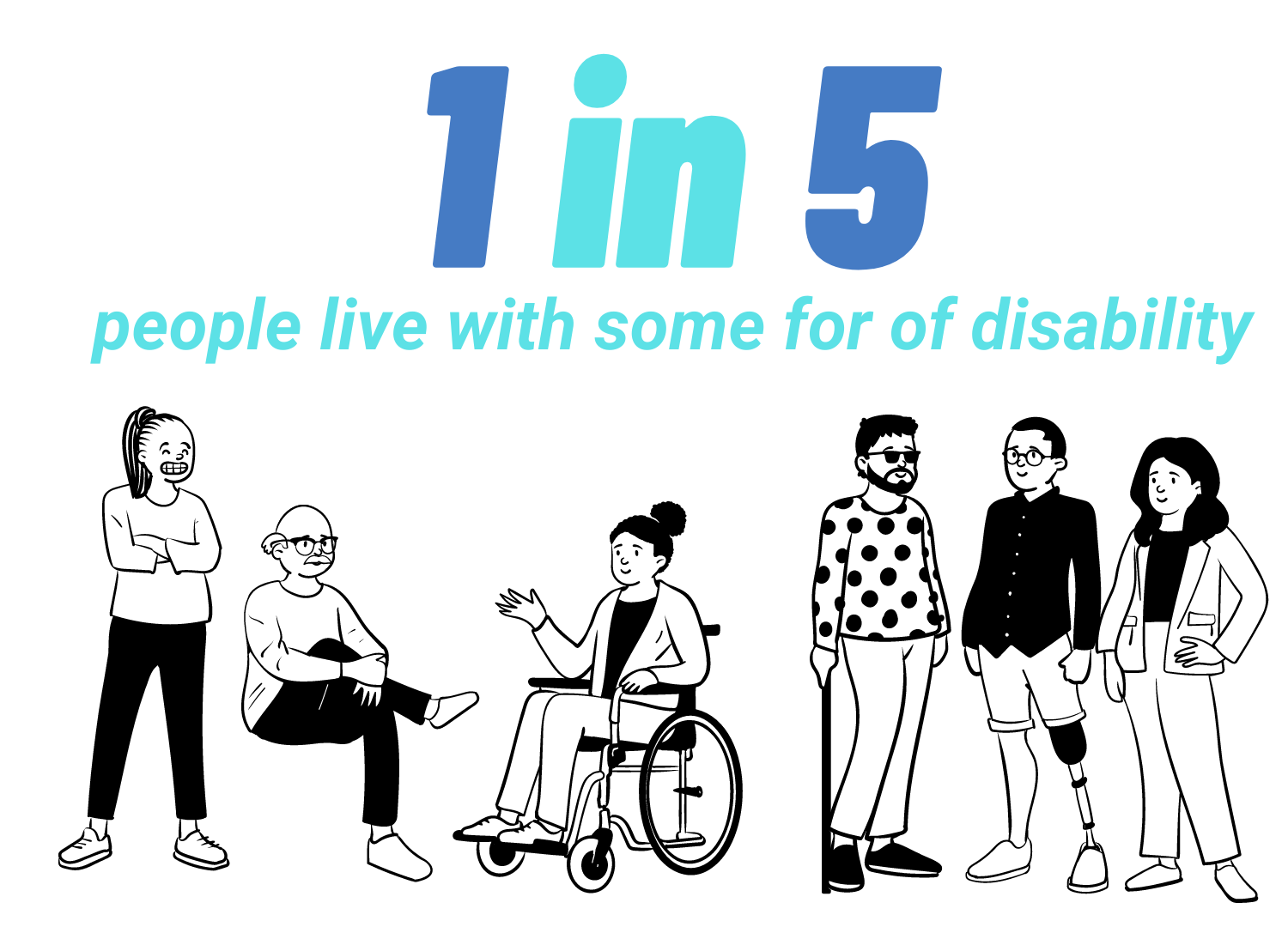 1 in 5 people live with some for of disability